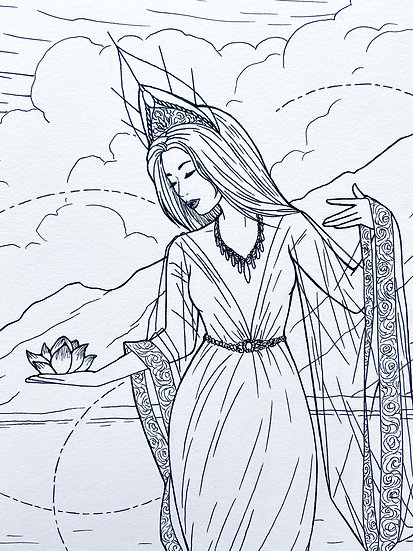 Guan Yin - Original Illustration