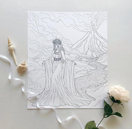 Pele - Giclée Print