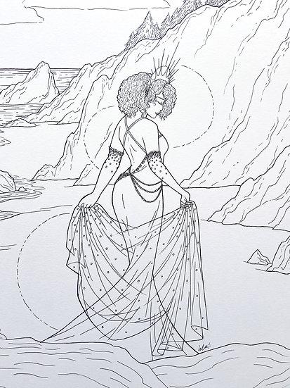 Yemonja - Original Illustration