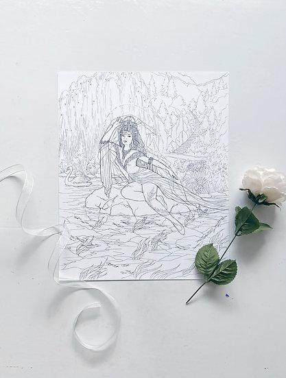 Swan Maiden - Giclée Print