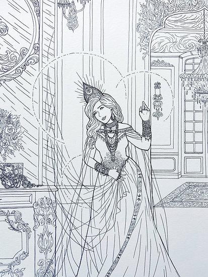 Lakshmi - Original Illustration