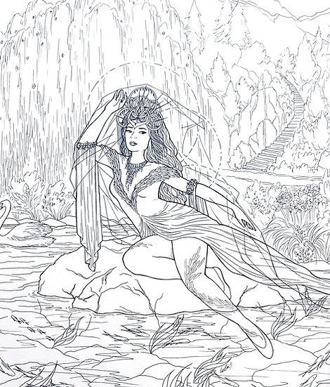 Swan Maiden - Original Illustration