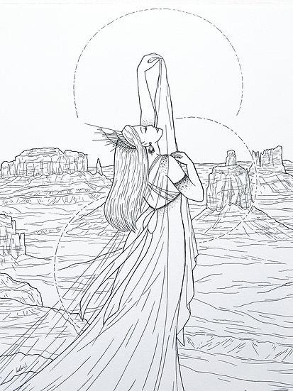 Amaterasu - Original Illustration
