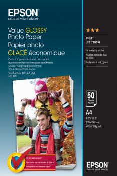 Epson Value Glossy Photo Paper - A4 - 50 Hojas