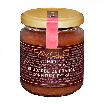 Confiture Rhubarbe de France Bio
