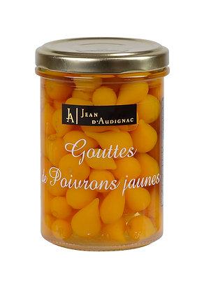 Gouttes de poivrons jaune