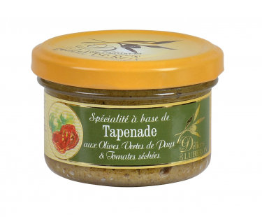 Tapenade aux Olives vertes et Tomates sechees