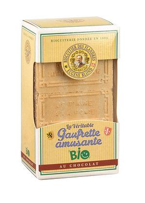 Gaufrettes amusantes bio chocolat