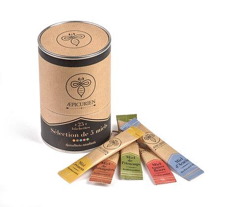 25 bûchette miel français 5 varietes