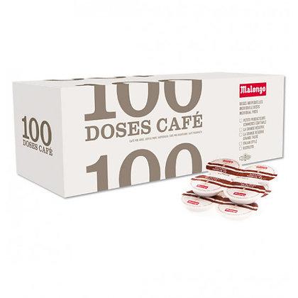 100 dosettes café
