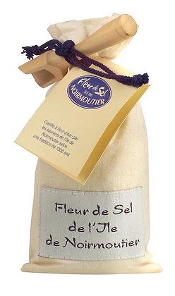 Sachet de fleur de sel de noirmoutier et sa pelle
