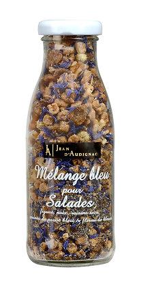 Mélange salade bleu
