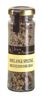 Melange special pour degustation foie gras