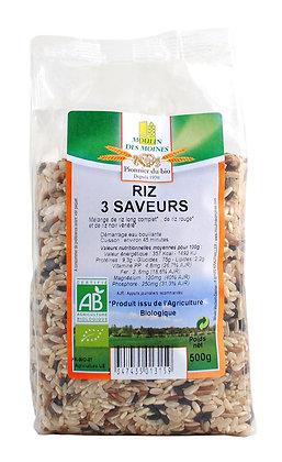 Riz 3 saveurs en vrac 100G