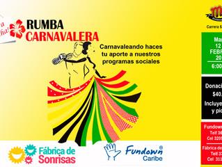 Fundown Caribe y Fábrica de Sonrisas se unen a la gozadera del carnaval