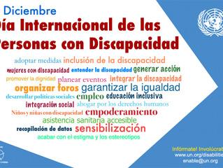 Diciembre 3,  Día de las personas con discapacidad: una fecha para empoderarse con la Agenda 2030