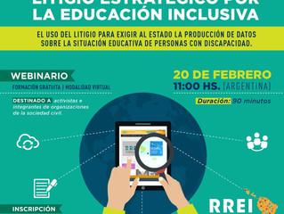 Webinario de la Red Latinoamericana de Educación Inclusiva sobre litigio estratégico