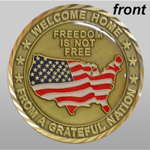 Welcome Home Challenge Coin