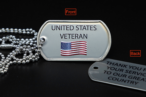 Dog Tag (1) Thank you front and back lettering.