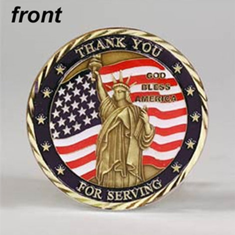 Thank You for Serving Challenge Coin