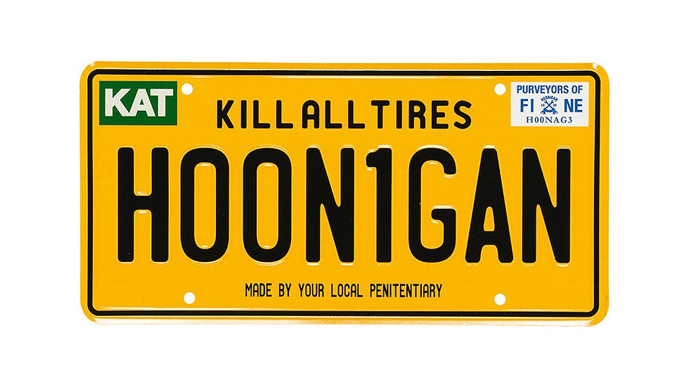 Hoonigan New York OG Licence Plate