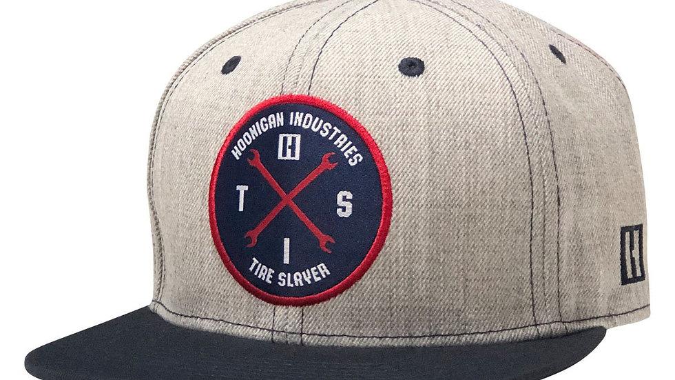 Hoonigan HITS V2 Snapback Hat - Grey / Navy