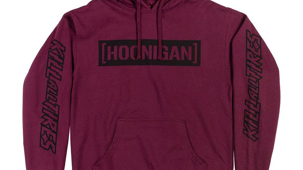Hoonigan CBAR Kill All Tires Hoodie - Burgundy