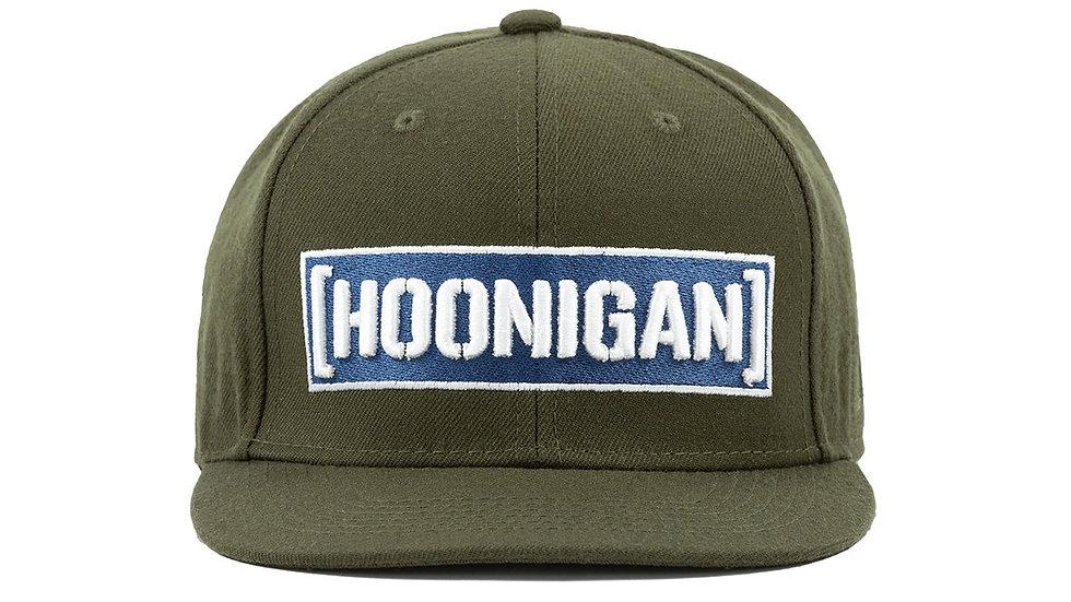Hoonigan Censor Bar Snapback Hat - Olive