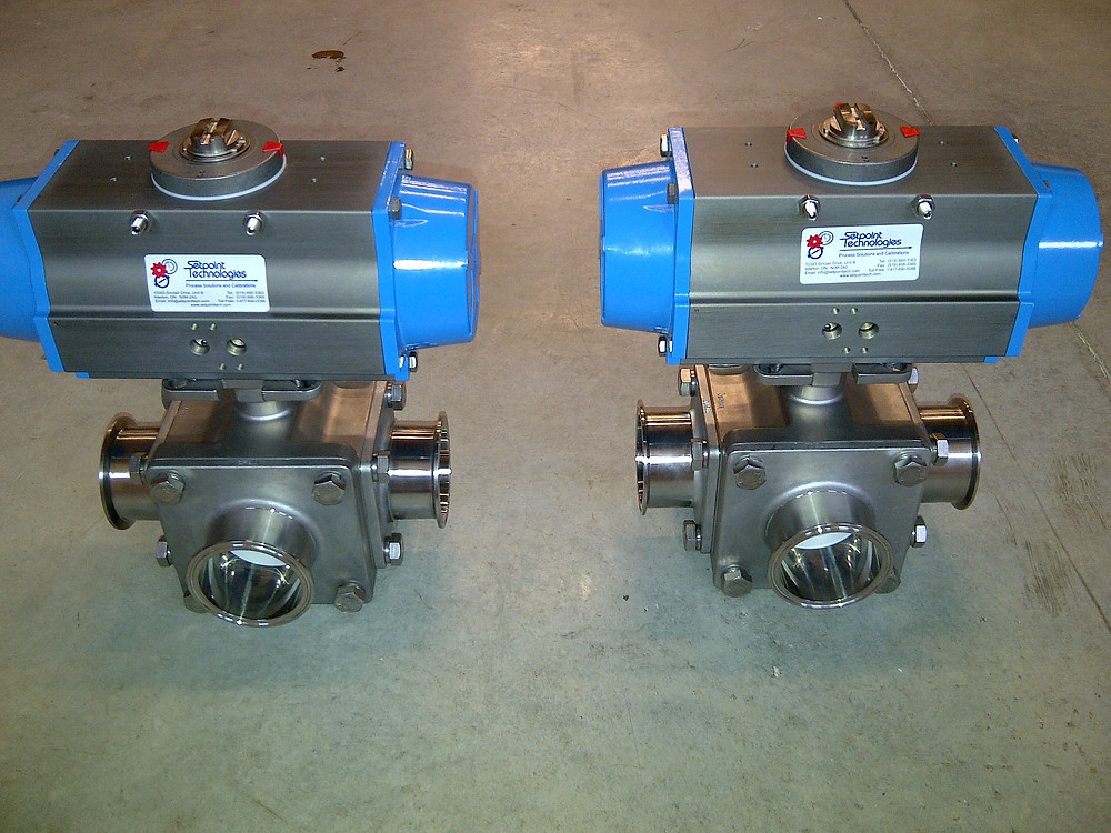 Sanitary Tri-clamp 3-Way Ball Valves, Setpoint Technologies Inc