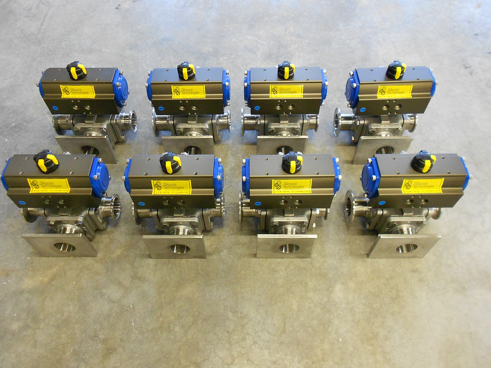 Custom Three-Way Ball Valves for Paint Blending Facility, Setpoint Technologies Inc.