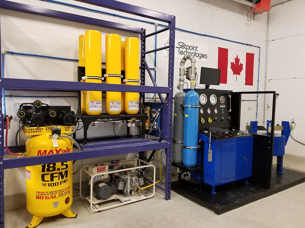 Safety Relief Valve Testing Facility at Setpoint Technologies Inc.