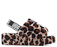 UGG® Fluff Yeah Leopard Slide Amphora