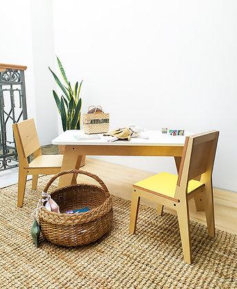 Conjunto de mesa RENATA 85 y 2 sillas