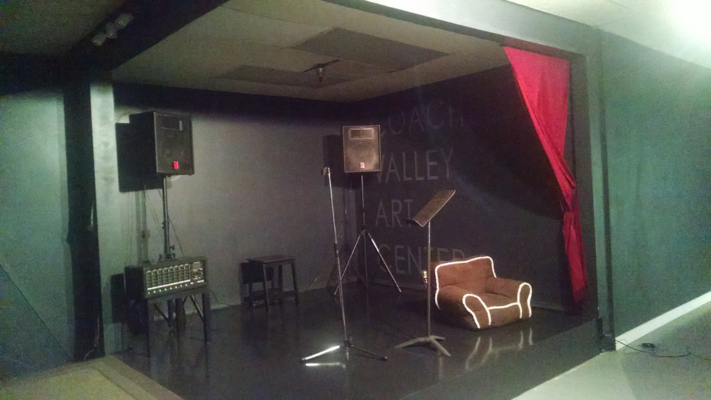 A stage at the Coachella Valley Art Center
