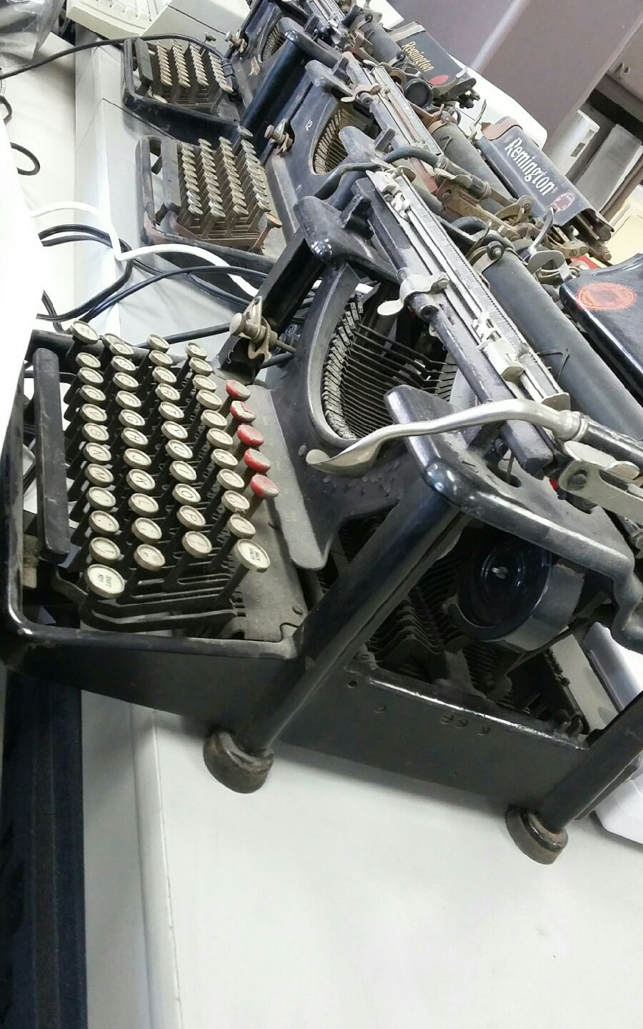 A wide variety of typewriters