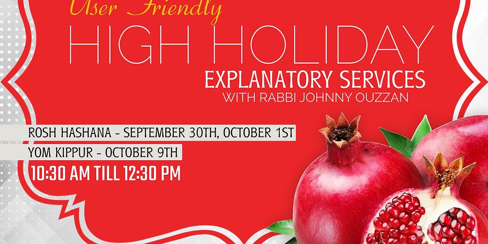 High Holidays User Friendly Explanatory Service