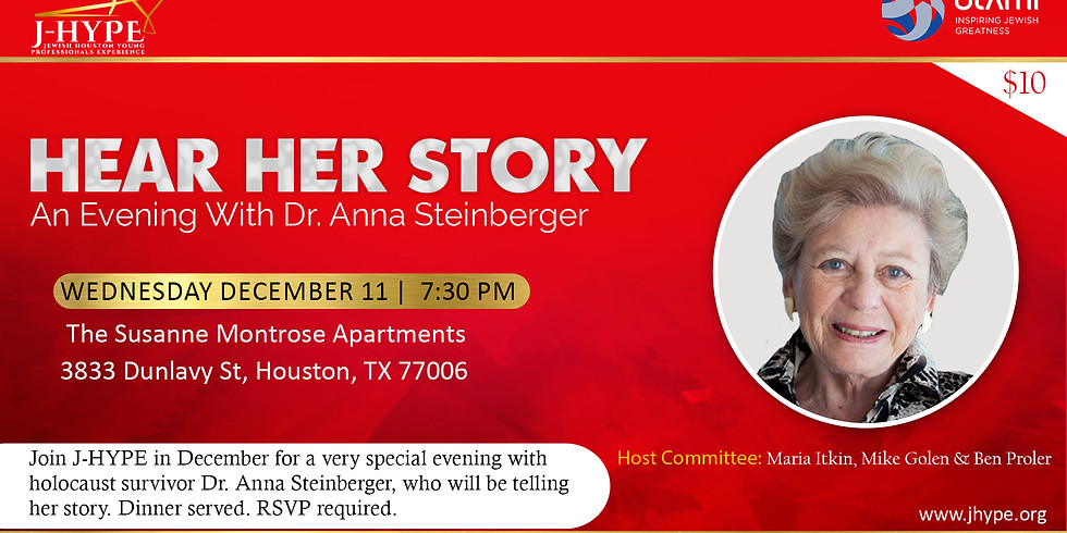 Hear Her Story - An Evening With Dr. Anna Steinberger
