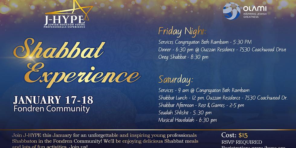 J-HYPE Shabbat Experience