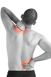sports injury pain - young man having ne