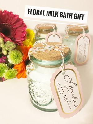 DIY :: Floral Milk Bath + Gift