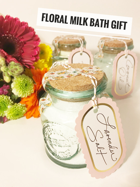 DIY :: Floral Milk Bath + Gift