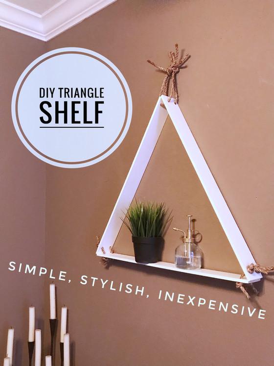 DIY :: Triangle Shelf