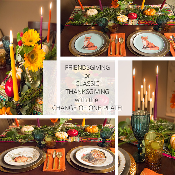 Lifestyle :: Friendsgiving to Classic Thanksgiving with One Plate