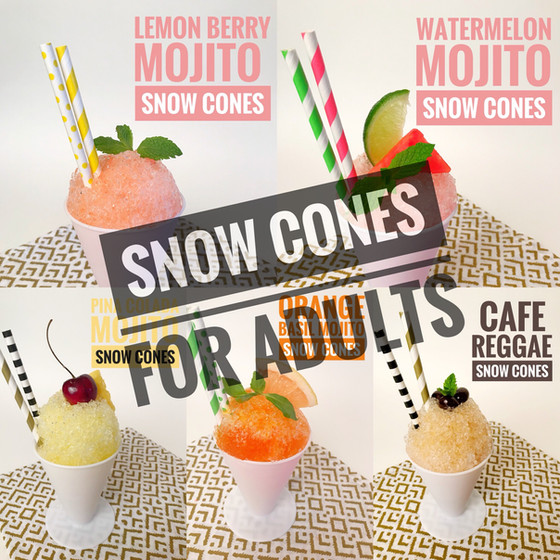Drinks :: 5 ways to create snow cones for adults