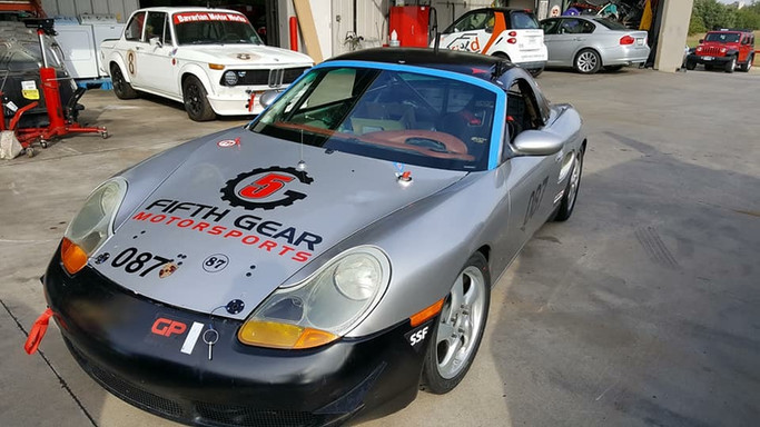 Fifth Gear Porche windshield