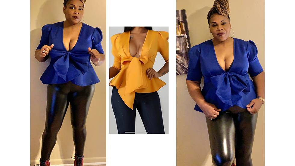 Wrapped in a Bow Puff Blouse