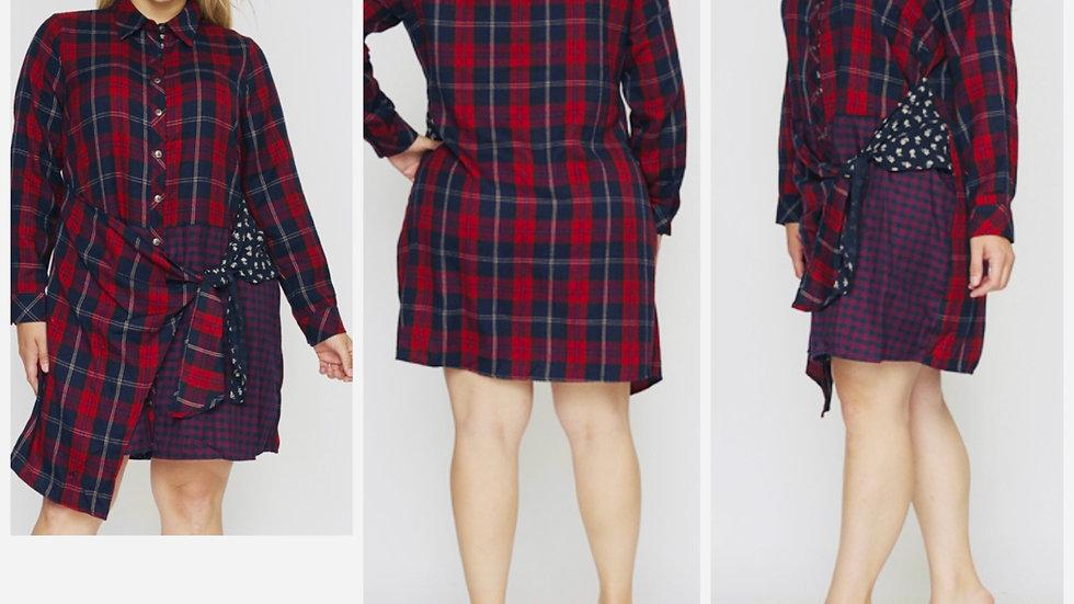 No Apologies Plus Size Plaid Dress
