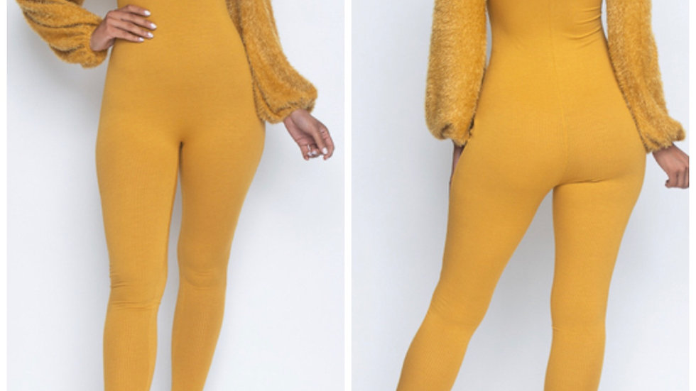 Furry Arms Jumpsuit