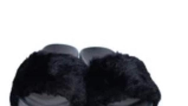 Fur Mami Platform Slippers
