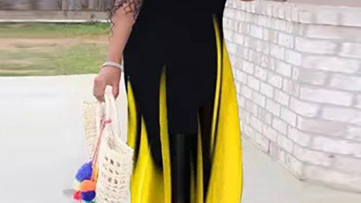 Ombré' Effect Maxi Dress